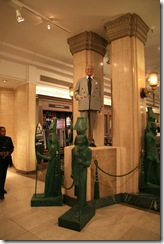 Al Fayed's statue.Harrods