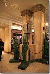Al Fayed's statue.Harrods