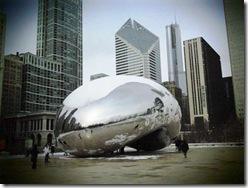 Cloud Gate. Millenium Park. Chicago. 2009 January