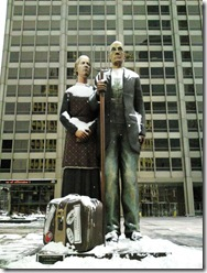 God Bless America by Seward Johnson. Chicago. 2009 January
