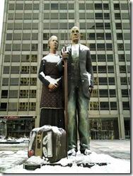 God Bless America by Seward Johnson. Chicago. 2009 January