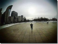 Selt Portrait 1.Cloud Gate. Millenium Park. Chicago. 2009 January