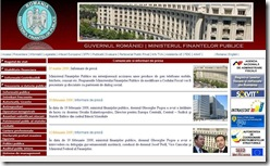 site Ministerul Finantelor 08.03.2009