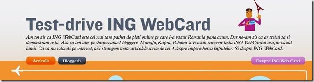 ING WebCard Test-drive