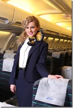 Andreea Petria - imaginea Companiei TAROM