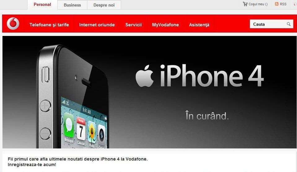 iPhone 4 soseste si la Vodafone
