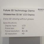 Sony 3D 56 inches LCD