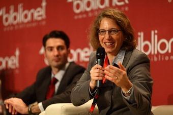 Sylvia Mathews Burwell, Președinta Programului de Dezvoltare Globală, Fundația Bill & Melinda Gates. Paul-Andre Baran, Directorul Programului Biblionet în România