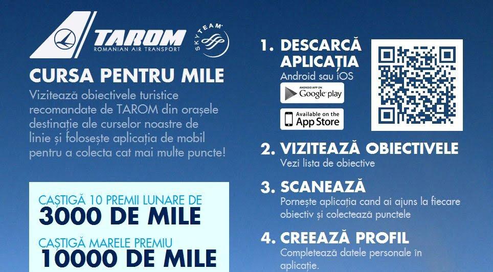 TAROM aplicatie smartphone