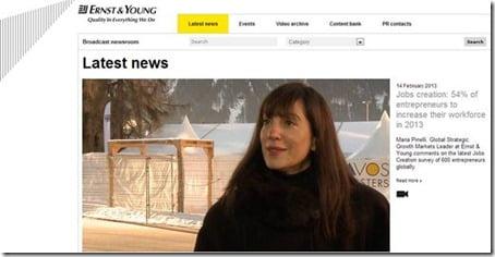 Ernst &Young video platform