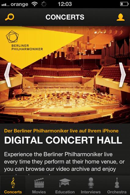 Der Berliner Philharmoniker App