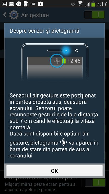 Samsung Galaxy 4 air gesture 1