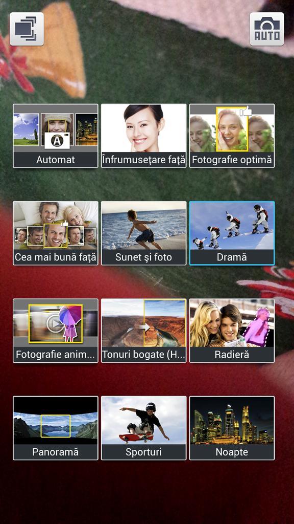 Samsung Galaxy S4 Moduri de fotografiere