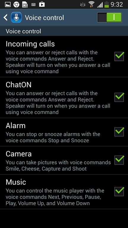 Samsung S4 comanda vocala