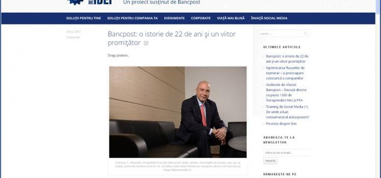 Blog Bancpost Ateliere de Idei