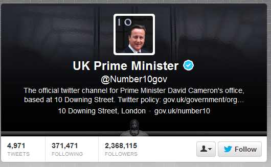 David Cameron Twitter