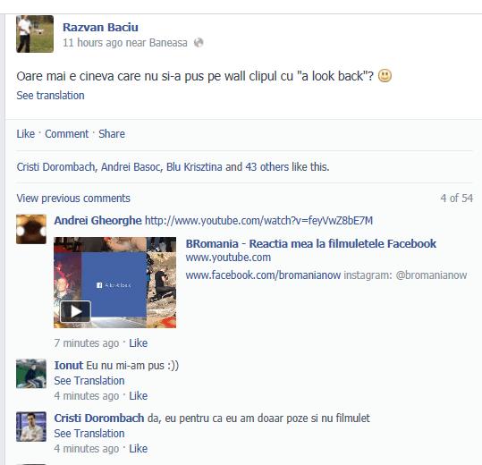 look back facebook