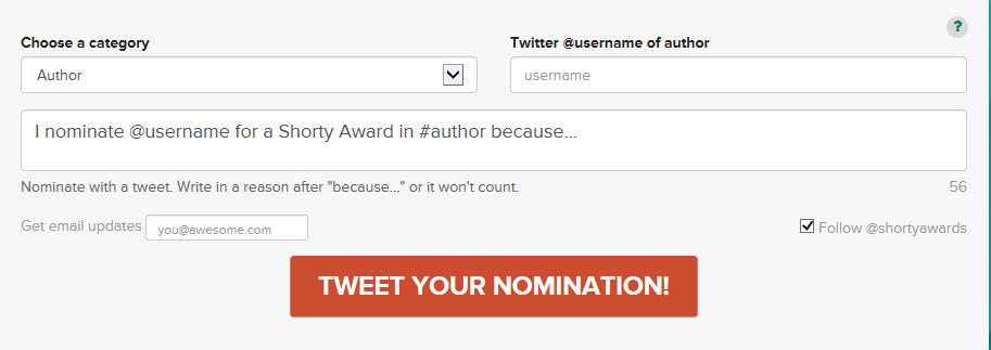 shorty awards nominate