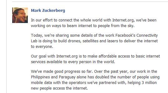 Facebook connnectivity lab