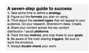 Content Marketing  seven steps