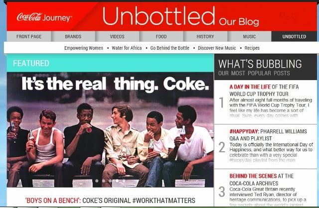 Coca-Cola Blog