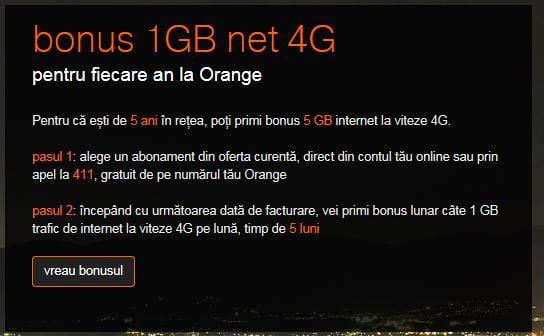 Orange 4G fidelizare