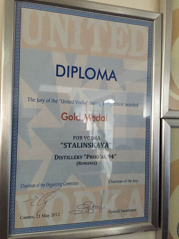 United vodka award Stalinskaya