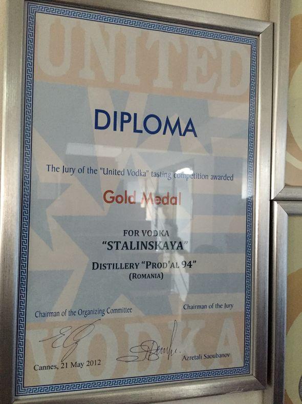United vodka award Stalinskaya