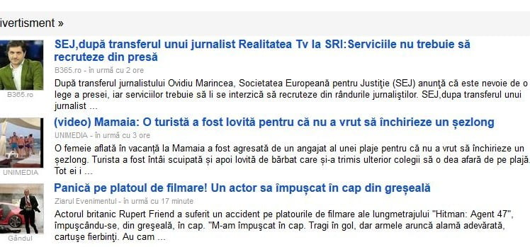 google news divertisment