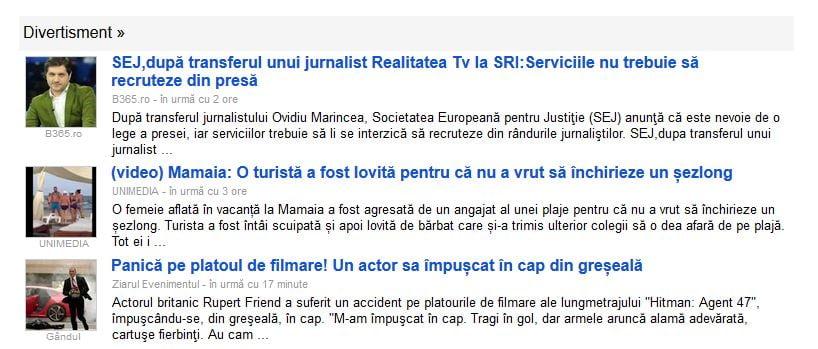 google news divertisment