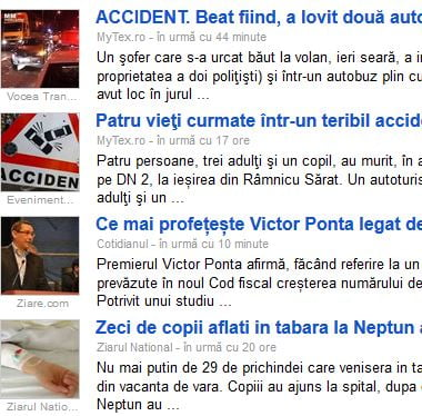 google news romania