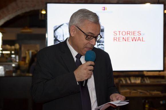 """E.S. Dl. Jean-Hubert Lebet, Ambasadorul Confederației Elvețiene la lansarea expoziției și a ebook-ului """"Stories of Renewal"""""""