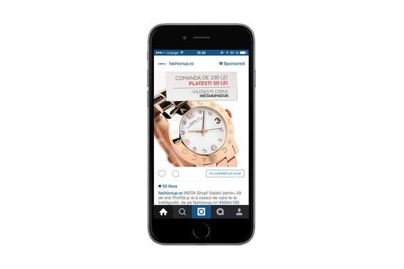 Promovare FashionUp pe Instagram