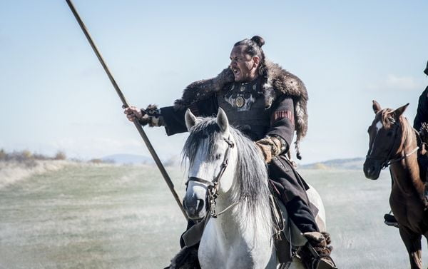 "Barbarians Rising, Episode 8 ""Ruin"" Starring Emile Hostina as Attila © A+E / History."