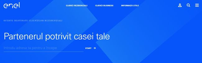 enel site homepage