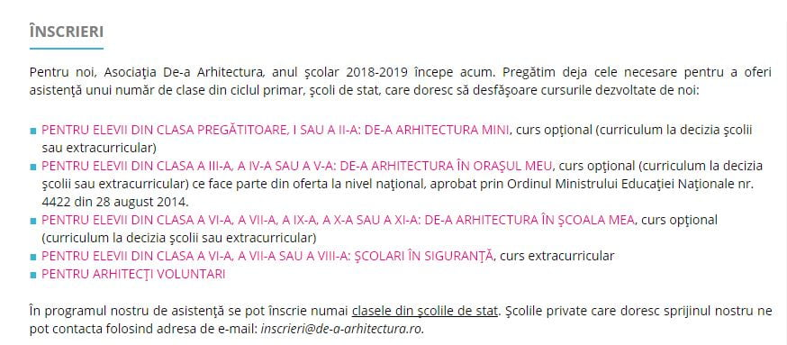 de-a arhitectura
