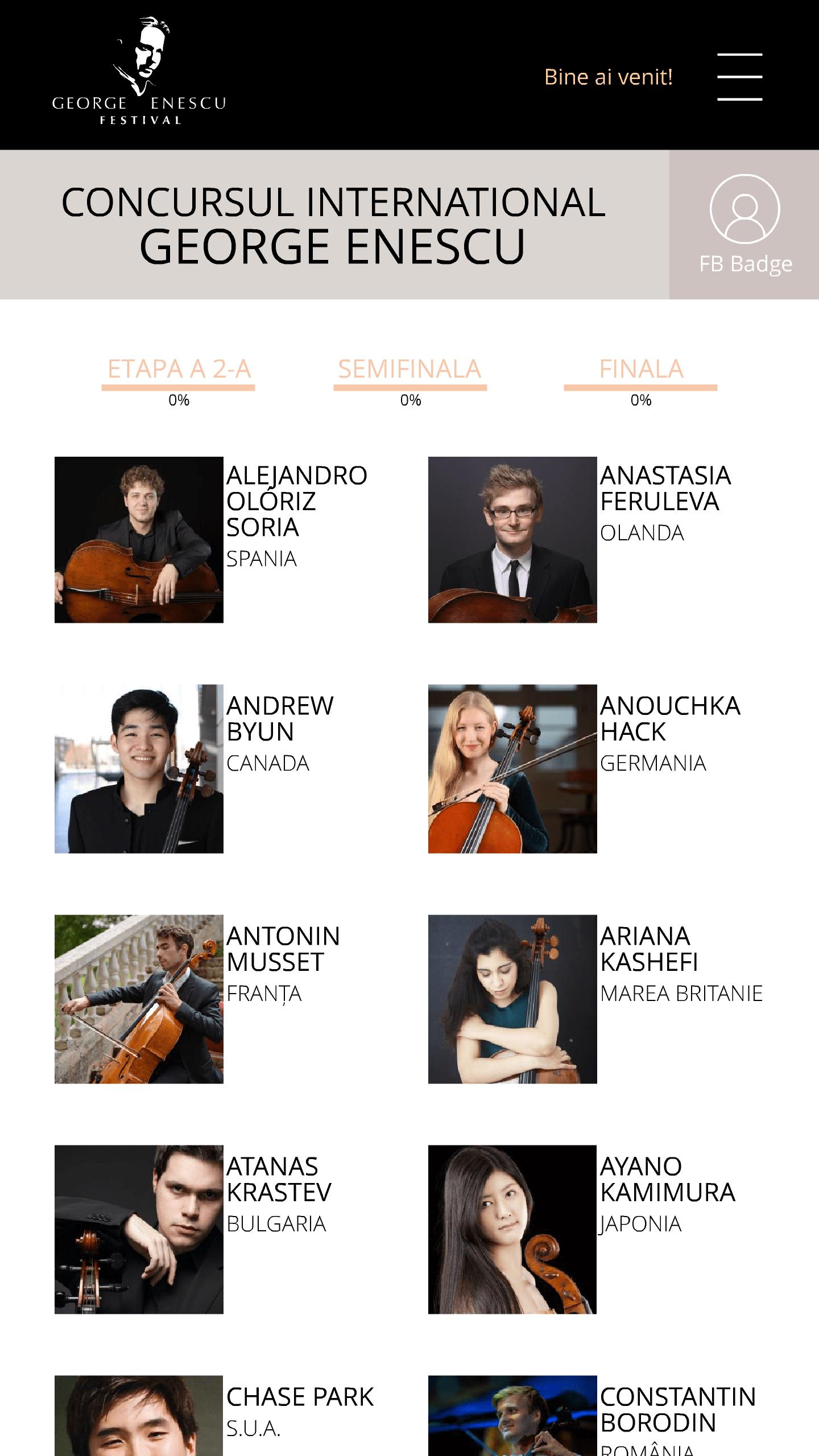 concurs George Enescu 2018